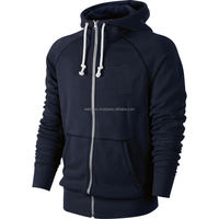 Top quality zip up hoodie, solid color zip up hoodies, plain hoodies