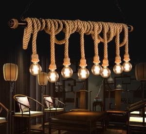 HOT sales Simple American style E27 Edison bulb retro country cord series chandelier/pendant lamp