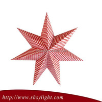 Good quality seven point paper star