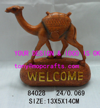 Polyresin welcome stone with camel statue-#84028