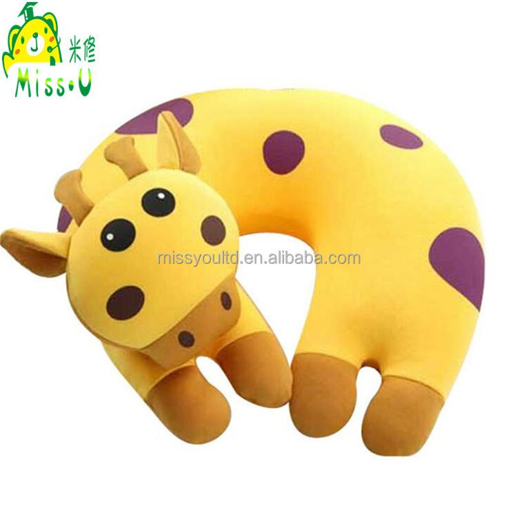 Direct Manufacturer U-shape Plush Giraffe Neck Pillow wholesale For Children