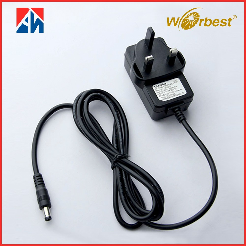 wall white adapter ac dc 12V 1A switching power adapter