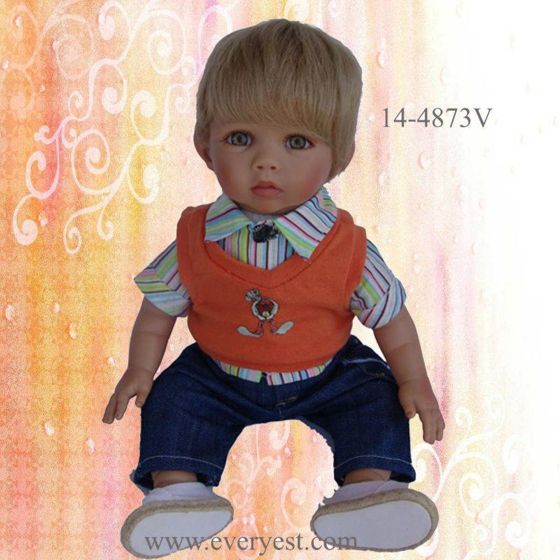Favorable 14'' fashion vinyl reborn baby doll supply