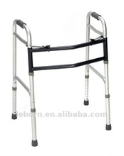 two button adult w/o wheels/heavy duty adjustation folding walker