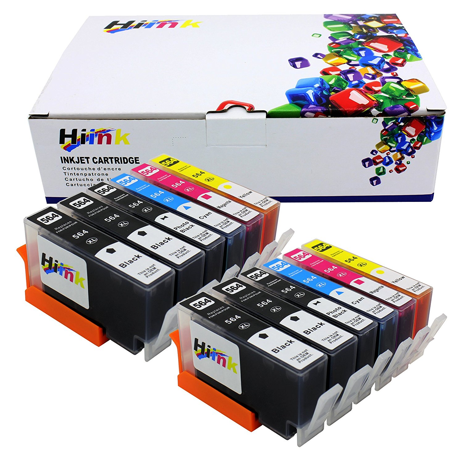 HI INK 12 Pack 564XL Ink Cartridge Replacement for HP 564XL Used in HP Photosmart 5520 6520 7520 5510 6510 7510 7525 B8550 C6380 D7560 Premium C309A C410 Officejet 4620 Deskjet 3520
