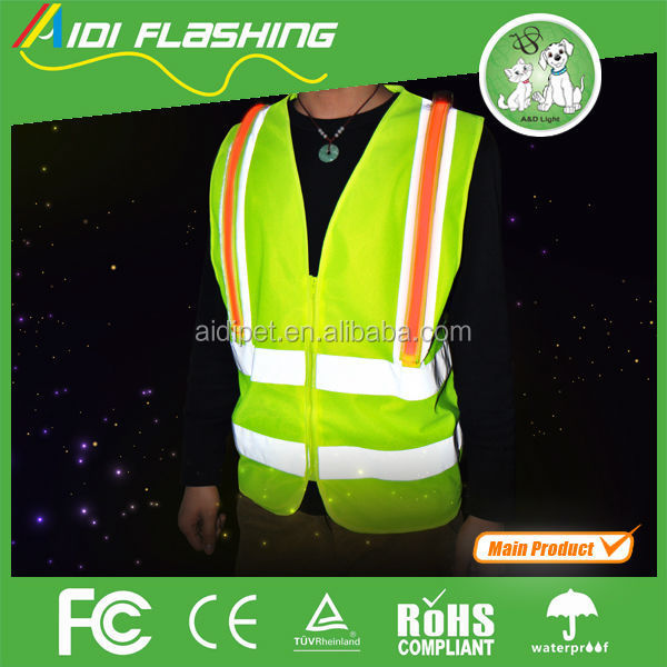 Wholesale Reflecetive LED Work Clothes Safety Vest