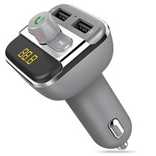 Wireless In-Car Bluetooth FM Transmitter Radio Adapter Car Kit W Charger Support USB Flash Drive