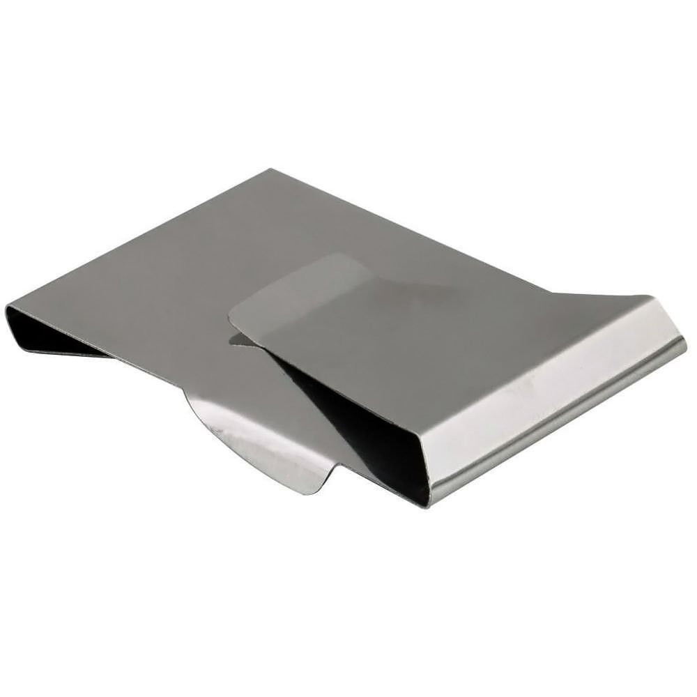 NEW HOT Money Clip Card Holder Unisex Double Sided Holder Wallet Stainless Steel