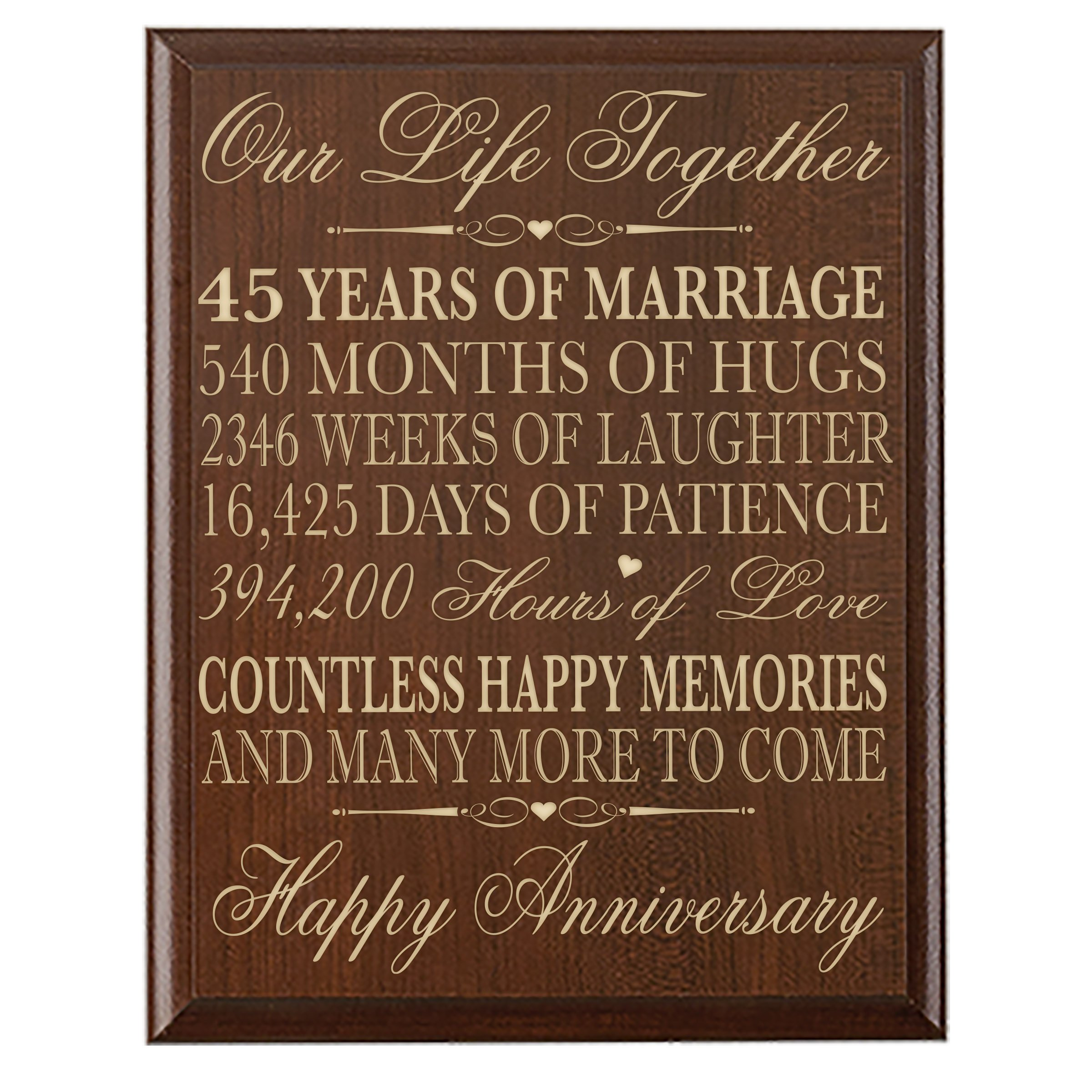 45th Wedding Anniversary Gift.Buy Parents 45th Wedding Anniversary Gifts Wall Plaque For Couple