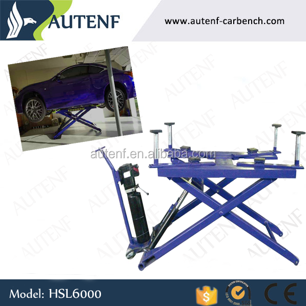 Mobile typical CE car lift/double hydraulic small electric scissor lift