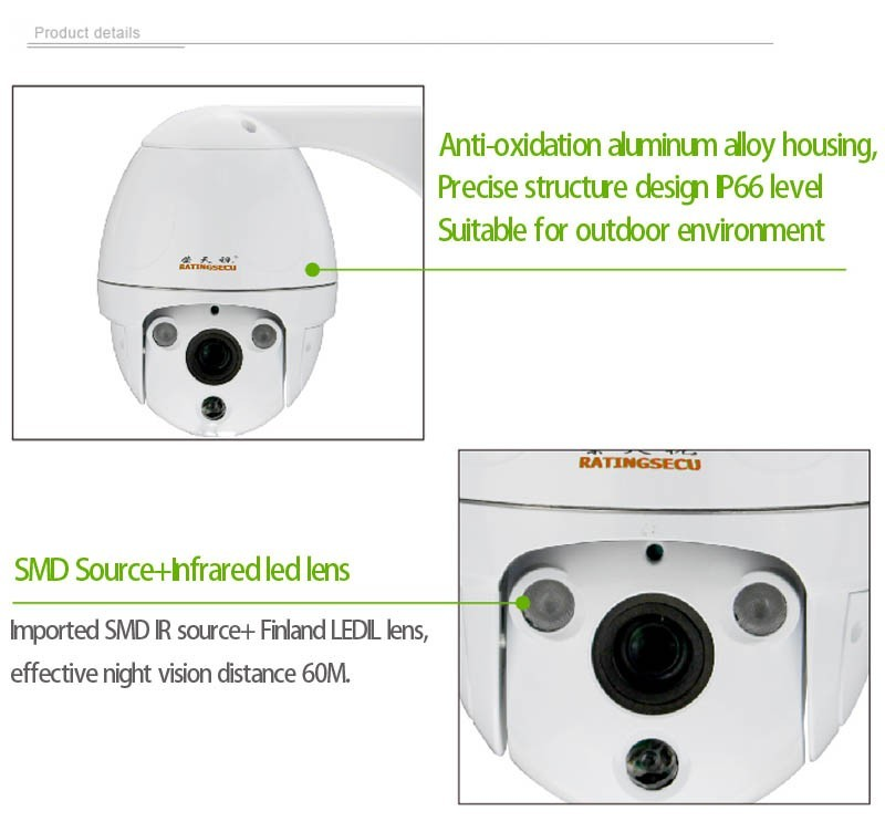 Fatory promotion waterproof surveillance bullet IP PTZ camera