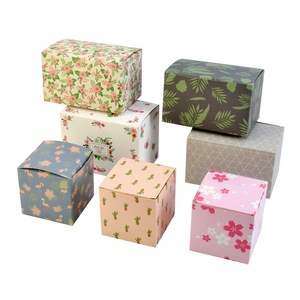 Custom Brown kraft paperboard Embossed Natural Cube Boxes tuck top gift boxes