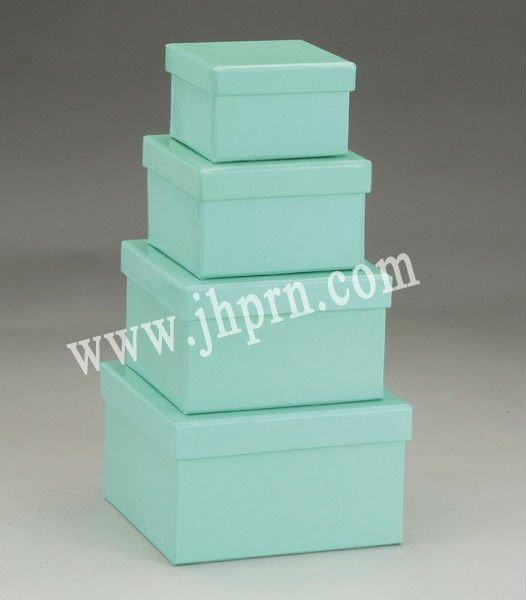 Square Aqua Box Nested