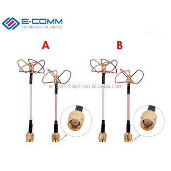 Whole Sale 2 4g 2 4ghz Circular Polarized Clover Leaf Antenna L Type Plug  For Tx Rx Set Fpv Antenna - Buy 2 4ghz Circular Polarized Clover Leaf