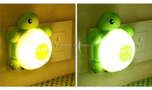 Energy saving light and sound control turtle sensor light, rechargeable led mini baby soothing turtle sensor night light