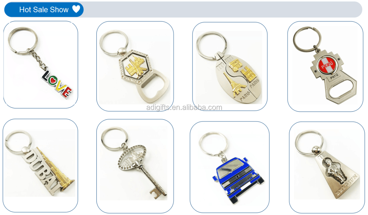 wholesales custom cute metal hard enamel keychains