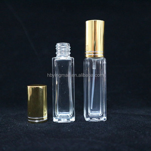 3ml 5ml 10ml 30ml 50ml 100ml Small body lotion sample clear square shape spray glass perfume packing liquid glass vial