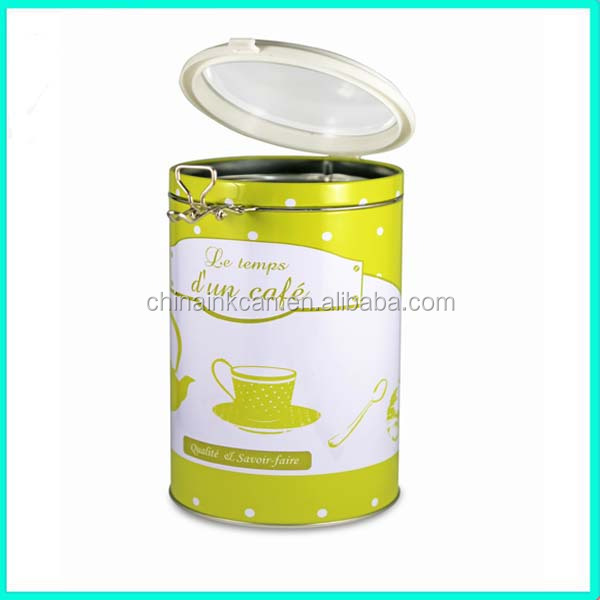 2016 New Design Empty Coffee Cans With Air Lid Custom Made Can