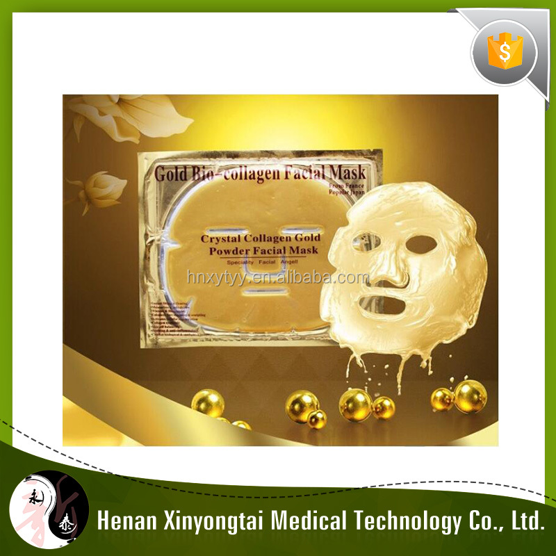 2017 Xinyongtai Purifying anti-wrinkle antiaging crystal collagen 24k gold facial mask
