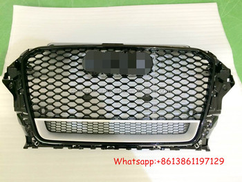 Abs Auto Rs3 Style Car Front Grille For Audi A3 8v - Buy Car Front  Grille,Front Grille For Audi,Grille For Audi A3 Product on Alibaba com