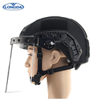 Police protective black military bulletproof helmets with visor