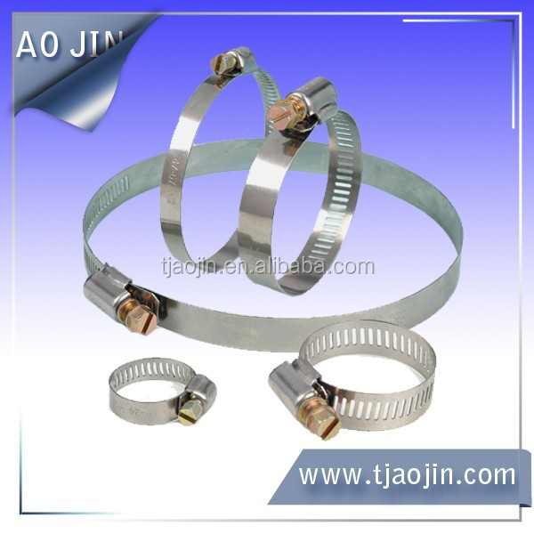 SUS 201 Stainless Steel 9mm American Type Worm Drive Air Hose Clamps