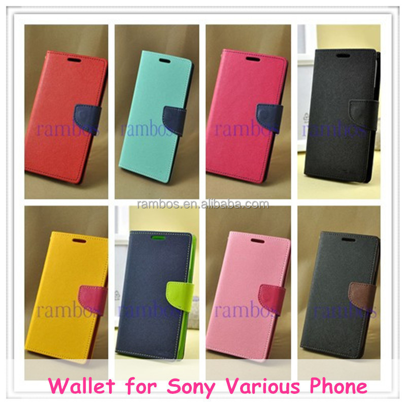 Slim Flip Stand Wallet Leather Case Cover for Sony Xperia Ion LT28i/for Xperia Ray ST18i