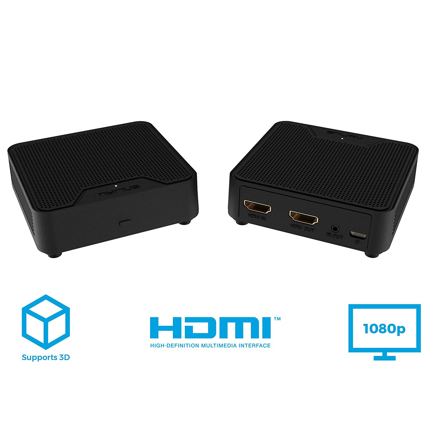 Nyrius Orion Home Wireless HDMI Video Transmitter & Receiver for Streaming HD 1080p Video & Digital Audio from A/V Receiver, Cable/Satellite Box, Blu-ray, PC to TV/Projector (WS55)