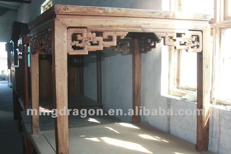 Chinese antique furniture Ming style cypress wood table