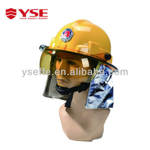Yellow color industrial safety helmets with visor