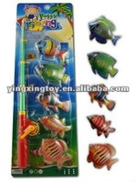 Hot toys fishing set plastic toy fish
