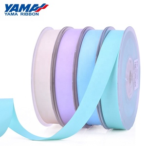 YAMA factory new 3-38mm sizes polyester double faces smooth silk ribbon