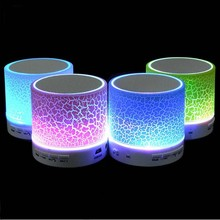 New Mini Portable Wireless S10 Bluetooth Speaker with LED light Mic Hand-free call TF USB FM Radio AUX LINE IN For phone PC