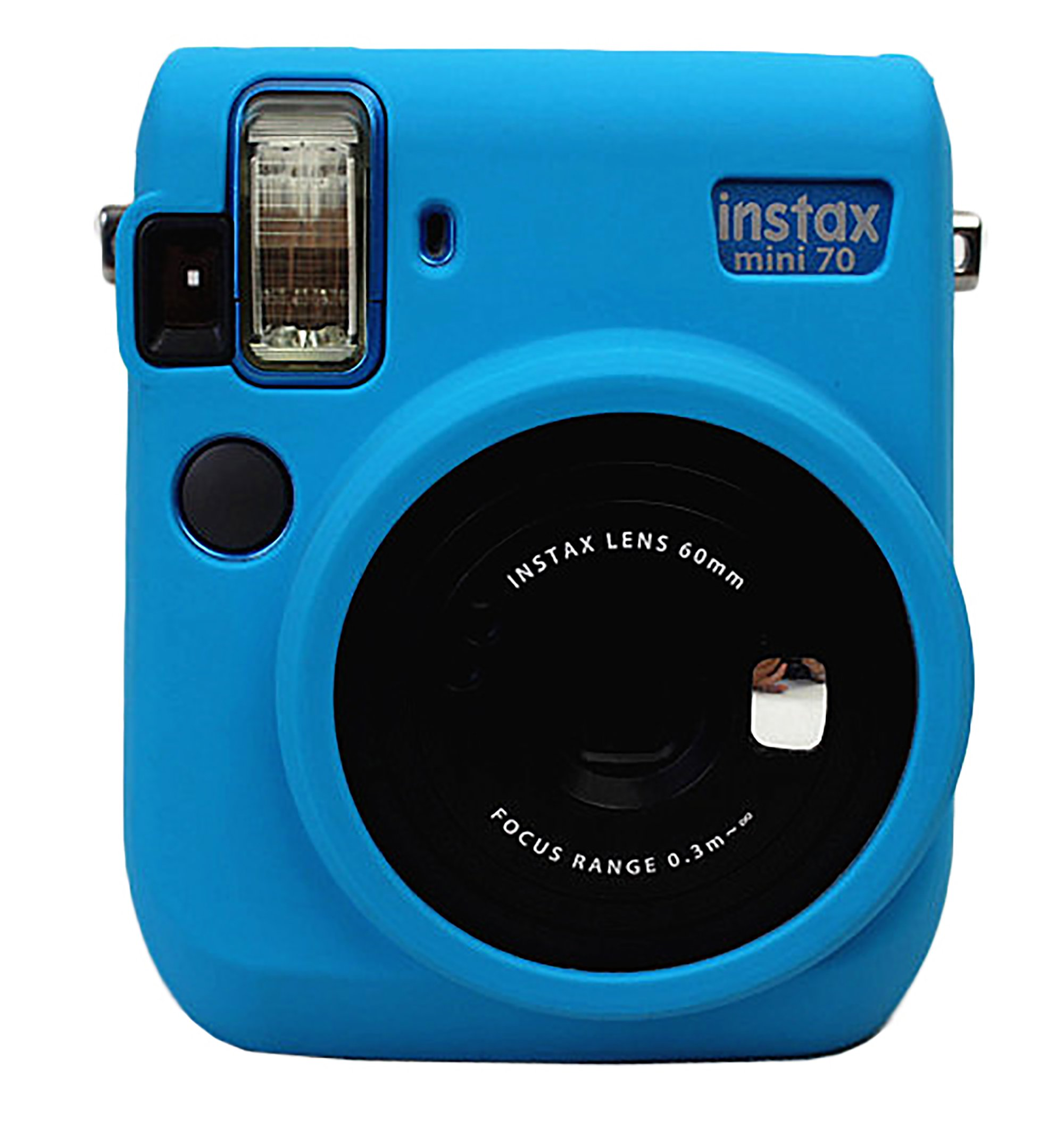 Protective Silicone Gel Rubber Soft Camera Case Cover Bag For Fujifilm Fuji Instax Mini 70 Camera Blue