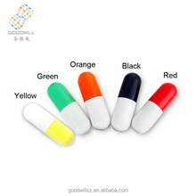 Promotion gift/ plastic pill shaped usb flash drive /2gb 4gb 8gb 16gb /with custom logo print
