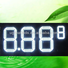 LED gasoline price signs for station display 4pcs 12inch LED digits with the waterproof cabinet for outdoor