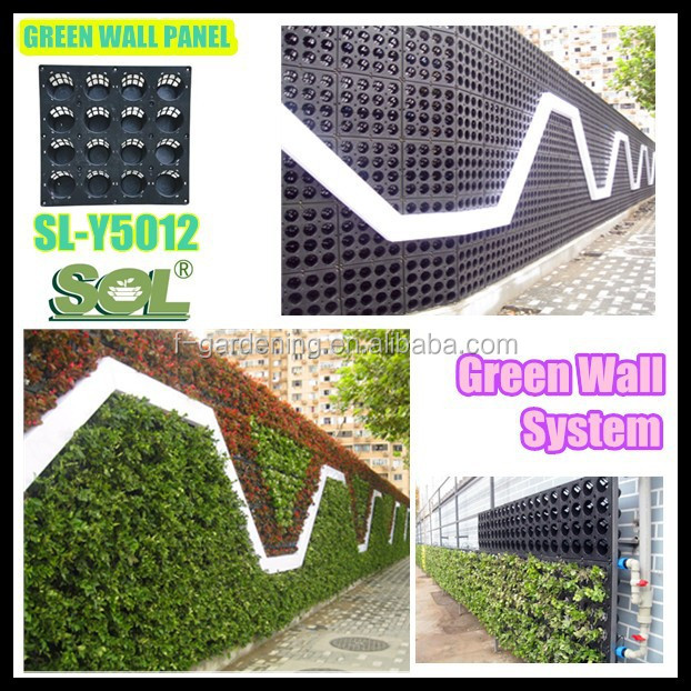 Verticale tuin groen systeem decoratieve groene wandpaneel for Verticale tuin systeem