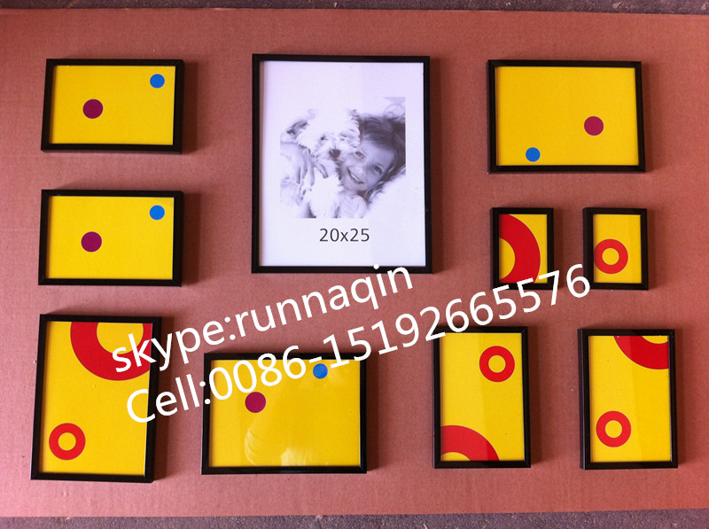 Wholesale muti collage family wall plastic photo picture frame for home wall decoration