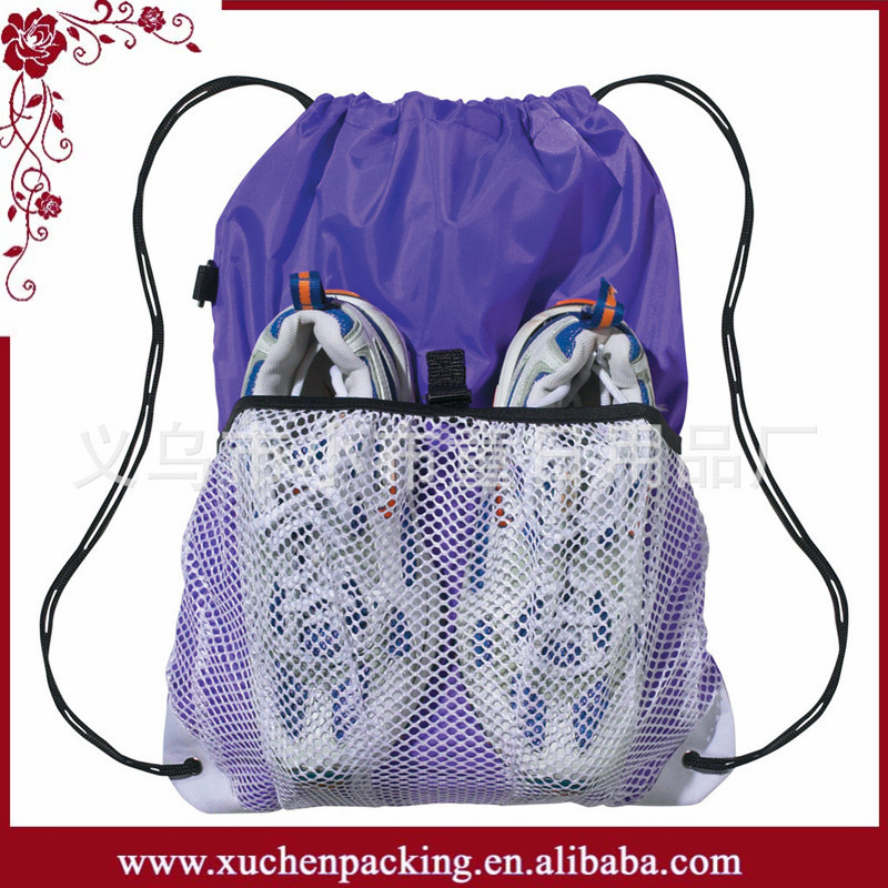 Alibaba China Eco-friendly Sports Mesh Equipment Bag for Shoes Packaging