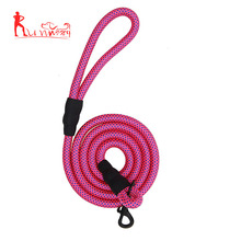 Mountain climbing leash braided rope dog lead for medium dogs 6 feet