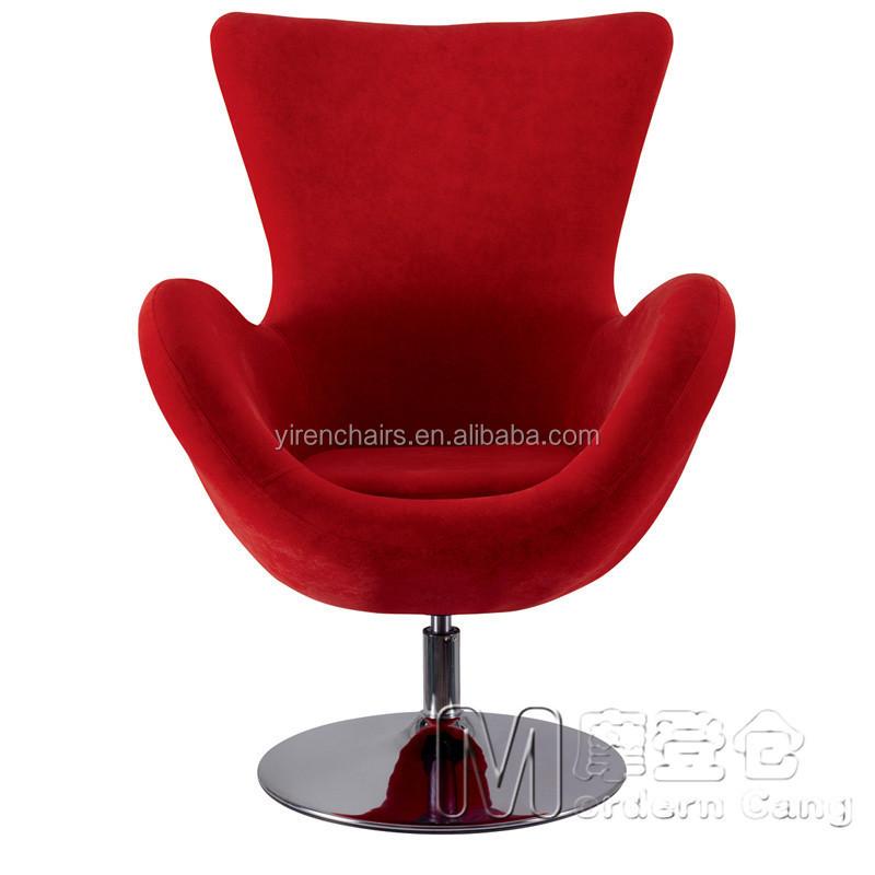 Huevo silla moderna tela suave sof silla de sala de estar for Silla huevo precio