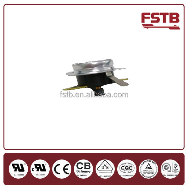 Electric KSD311 Thermostat 10A 250V Bend Pin 40 ~ 180 Degree Coffer Maker With Interruptible Cut off Mechanism Power time Limit