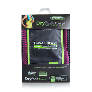 Ideal quick dry microfiber travel towel for holidays and travelling