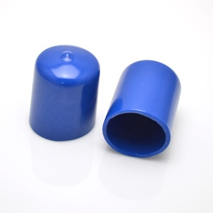 Colorful round flexible vinyl soft PVC end caps for pipe fitting