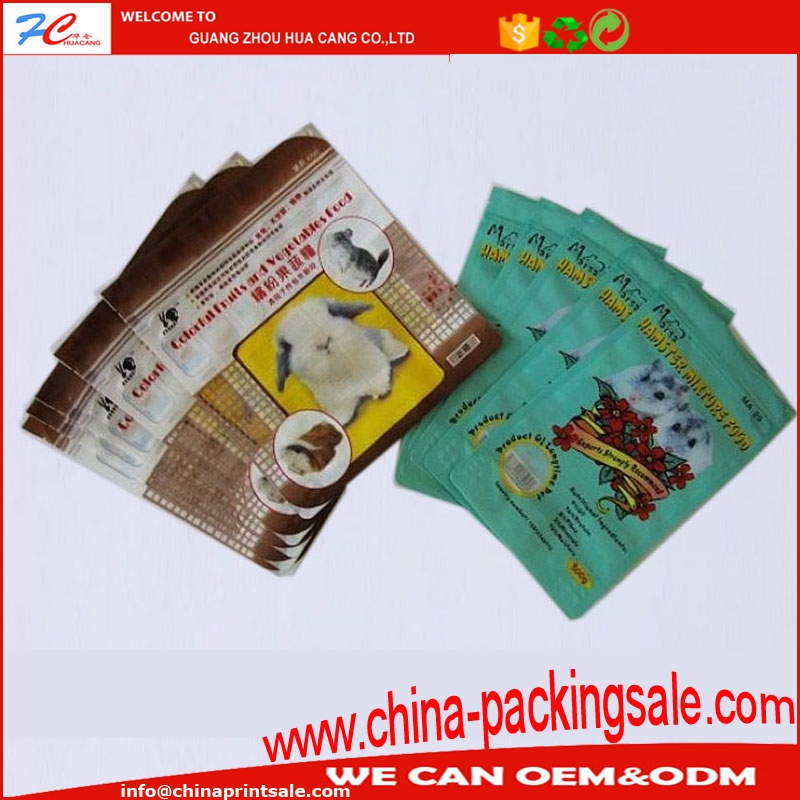 Laminated food zipper bags/top zip food packaging/matte printing zipper bag for powder package