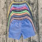 children solid color shorts top selling soft seersucker kids wear clothes boys shorts