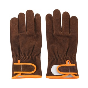 Winter Working gloves Brown Cow Split Leather welders with lining for Men