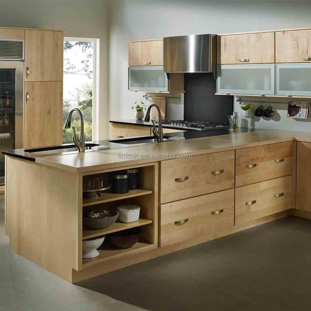 Amerikanischen Traditionellen Küche Insel Buche Massivholz Küchen,  Wohnzimmer Design