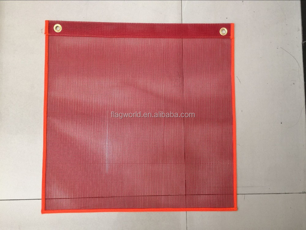 18''x18''Viny mesh safety flag red,with grommets from Wenzhou Fly