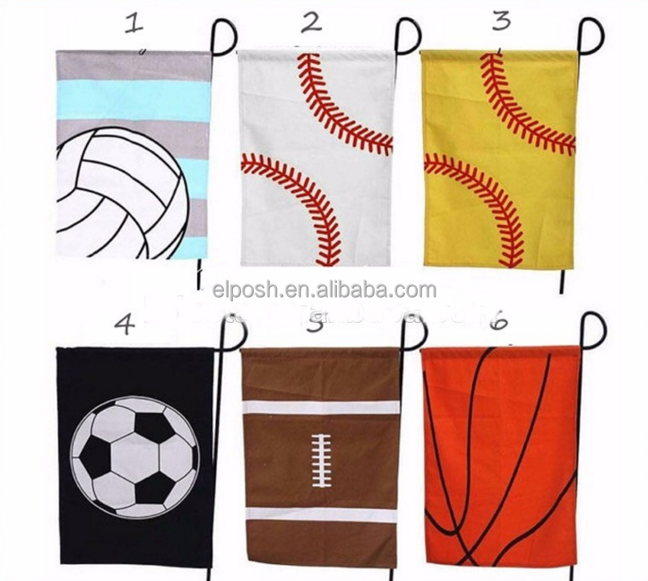 Wholesale Monogram Baseball Sport Garden Flag